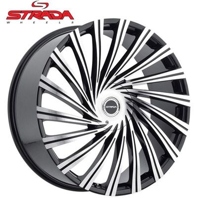 Strada Wheels Tornado Machined Black