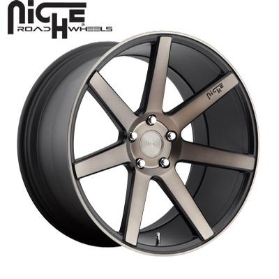 Niche Verona M150 Black & Machined w/Dark Tint