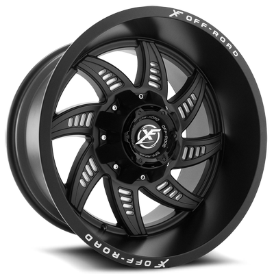 XF Off Road XF-206 Matte Black Milled Holes