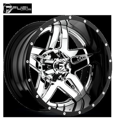 Fuel Off Road D243 2pc Full Blown Chrome w/Gloss Blk Lip