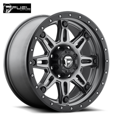 Fuel Off Road D568 Hostage III Anthracite W/Matte Blk Ring