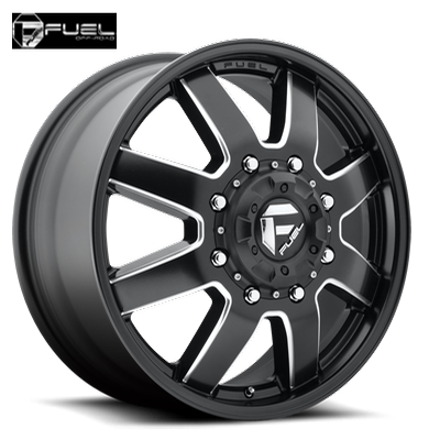 Fuel Off Road D538 Maverick Dually Front Blk Milled