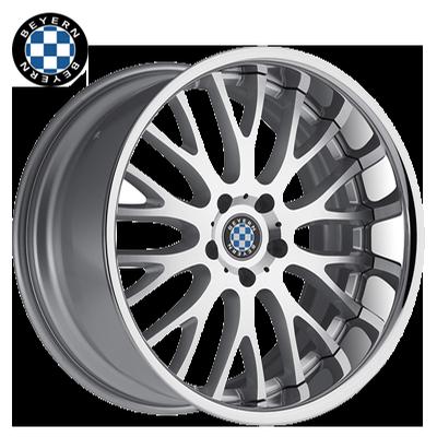 Beyern Munich Silver w/Machined & Chrome SS Lip 2-Piece