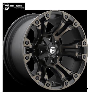 Fuel Off Road D569 Vapor Black Machined w/Dark Tint